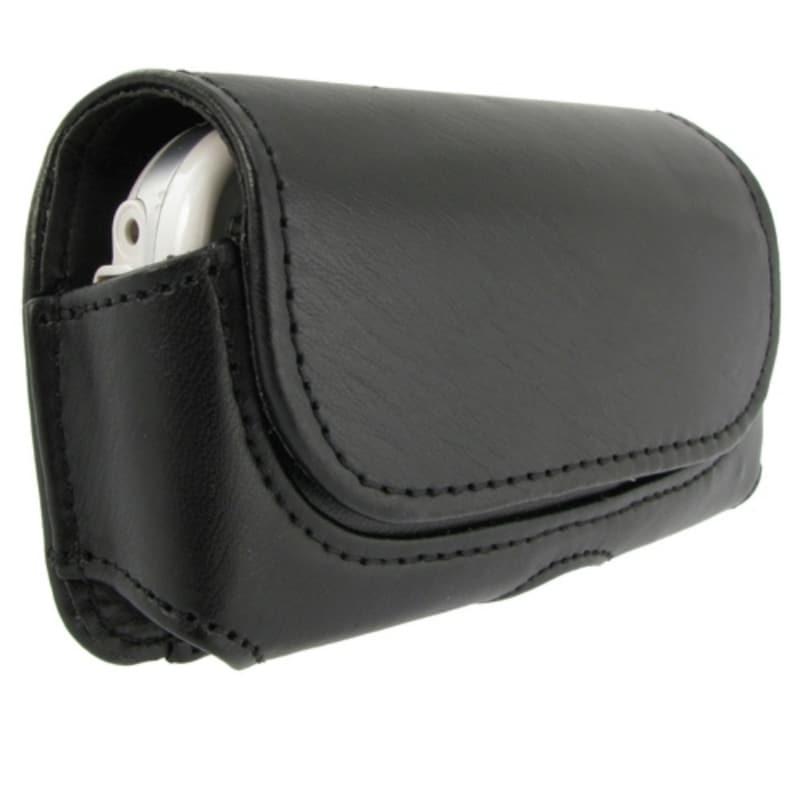 INSTEN Black Universal Horizontal Leather Phone Case Cover with Belt Clip for Samsung LG Motorola Models