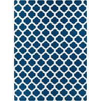 Hand-woven Blue Wool Blinov Area Rug - 8' X 11'