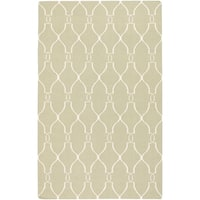 Hand-woven Ephesus Light Sage Flatweave Wool Area Rug - 9' x 13'