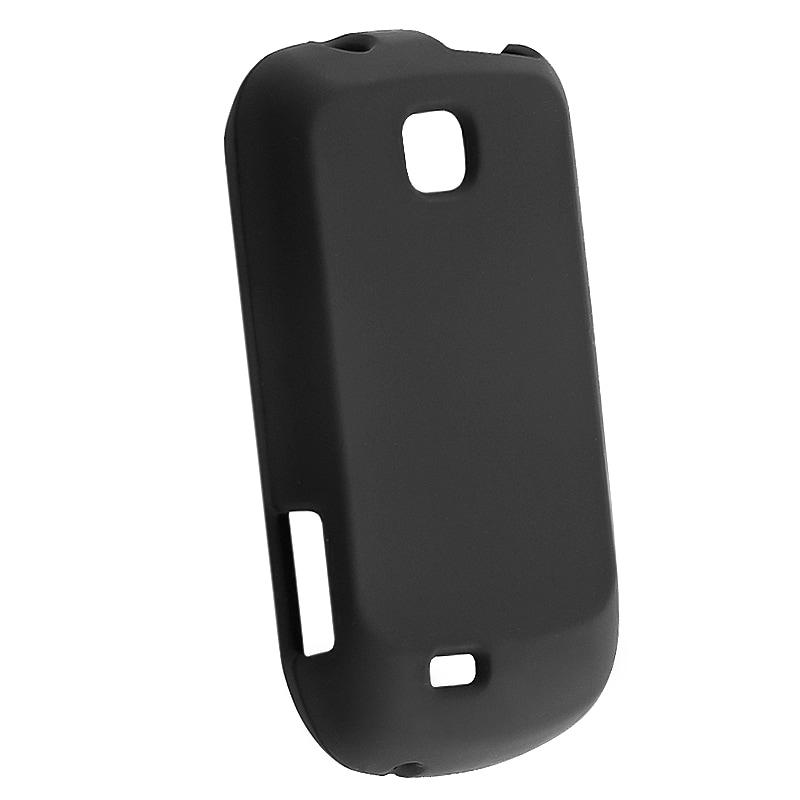 INSTEN Black Soft Silicone Skin Phone Case Cover for Samsung Galaxy Mini S5570