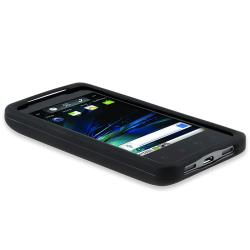 INSTEN Black Rubber Coated Phone Case Cover for LG G2x/ T-Mobile G2x - Thumbnail 2