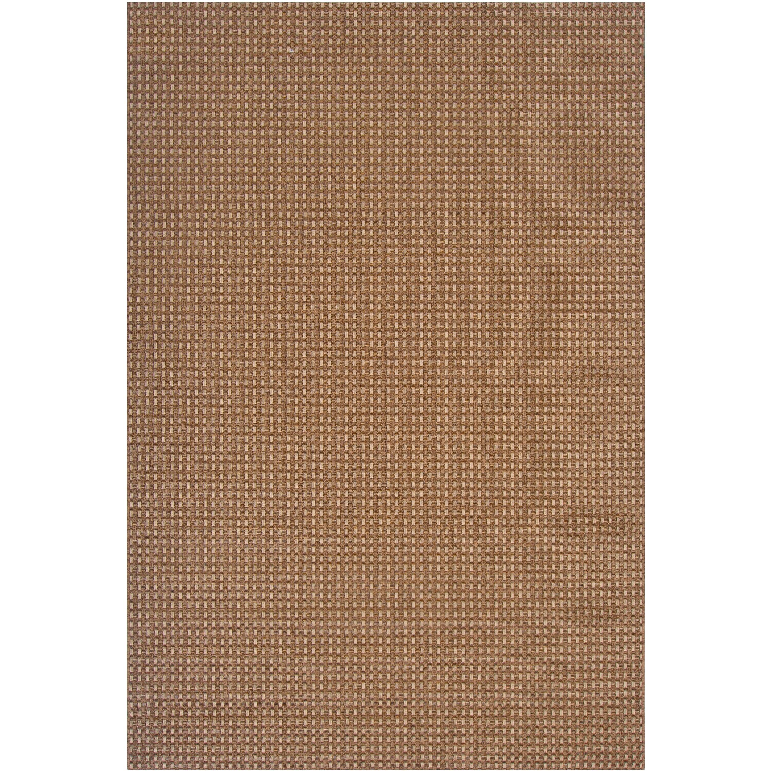 Woven Brown Venatici Indoor/Outdoor Rug (5'3 X 7'6)