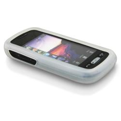 BasAcc Clear White Silicone Skin Case for Samsung Solstice A887