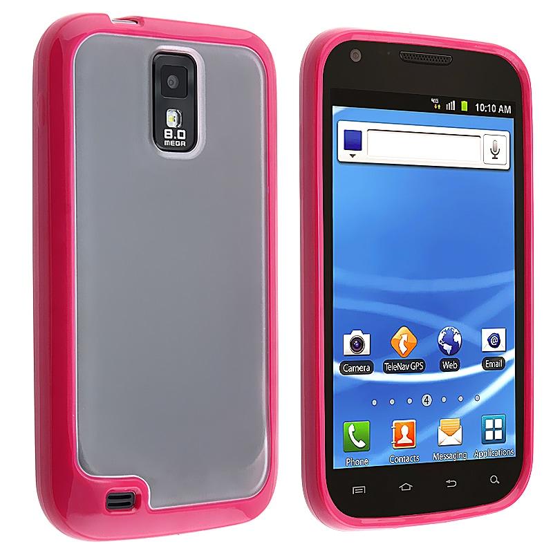 BasAcc Hot Pink Trim TPU Skin Case for Samsung Galaxy S II T989