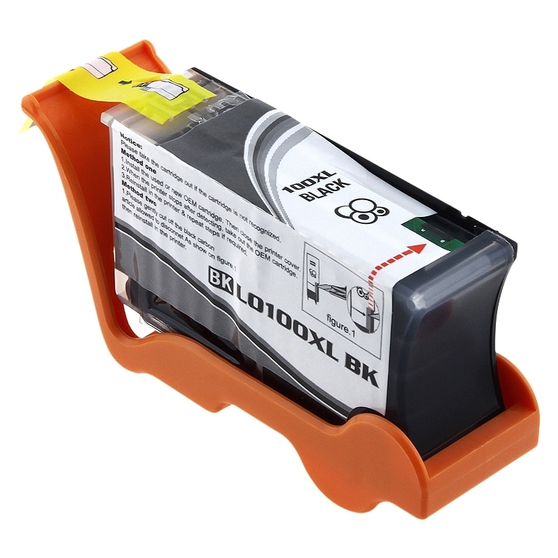 Insten Black Ink Cartridge 100XL 14N1068 with New Chip for Lexmark Impact S305/ Interact S605/ Interpret S405/ Intuition S505