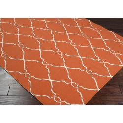 Hand-woven Orange Olympia Wool Rug (3'6 x 5'6)