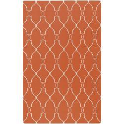 Hand-woven Orange Olympia Wool Rug (3'6 x 5'6)