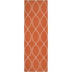 Jill Rosenwald Hand-woven Orange Olympia Wool Rug (2'6 x 8')
