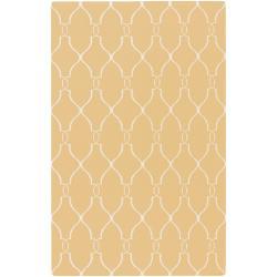 Hand-woven Babylon Sunflower Yellow Flatweave Wool Area Rug (9' x 13') - Thumbnail 0