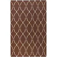 Hand-woven Giza Brown Flatweave Wool Area Rug (9' x 13')