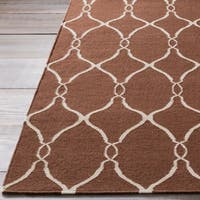 Hand-woven Giza Brown Flatweave Wool Area Rug - 9' x 13'