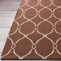 Hand-woven Giza Brown Flatweave Wool Area Rug - 9' x 13'