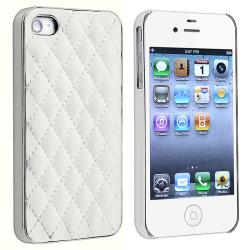 BasAcc White Diamond with Silver Side  Case for Apple iPhone 4/ 4S - Thumbnail 1