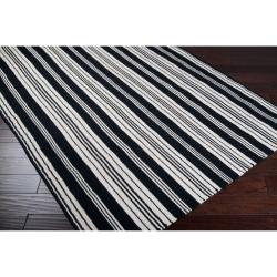 Country Living Hand-woven Black Aristotle Wool Rug (8' x 11')