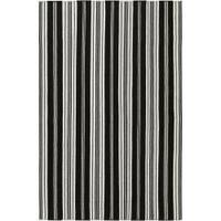 Hand-woven Black Aristotle Wool Area Rug (8' x 11')