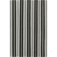 Hand-woven Black Aristotle Wool Area Rug - 5' x 8'