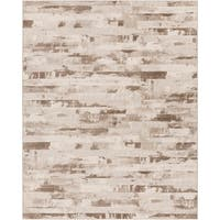 Beige A x oloti Abstract Area Rug - 7'10 x 10'
