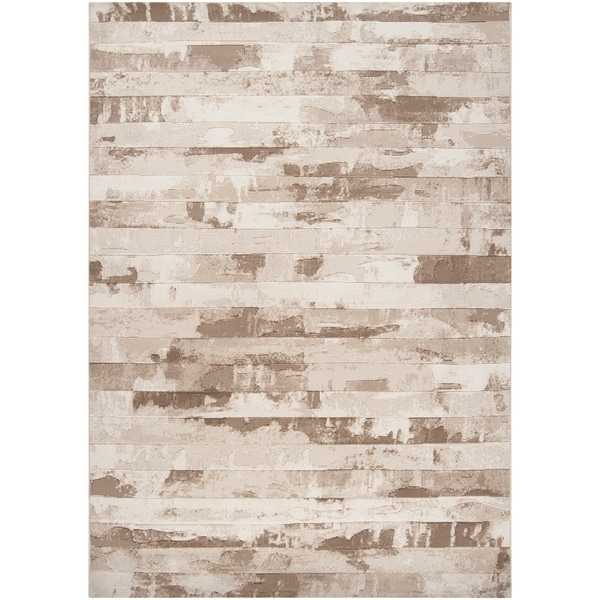 Beige A x oloti Abstract Area Rug - 5'3 x 7'6