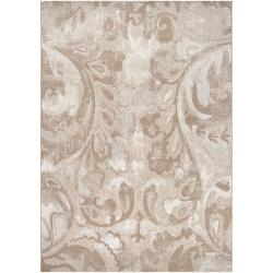 Meticulously Woven Beige Vintage Anchovy Abstract Rug (5'3 x 7'6)