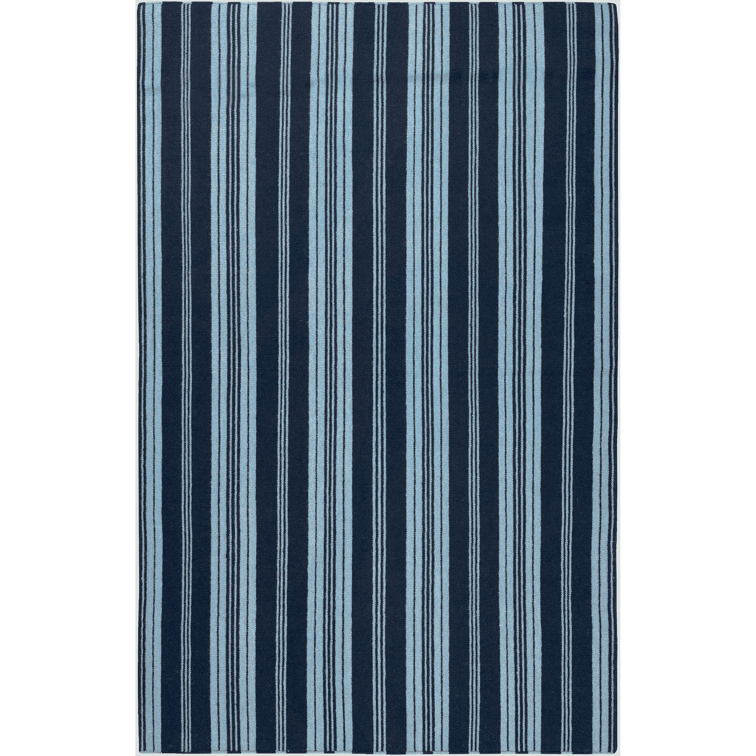 Country Living Hand-woven Blue Archimedes Wool Rug (8' x 11')