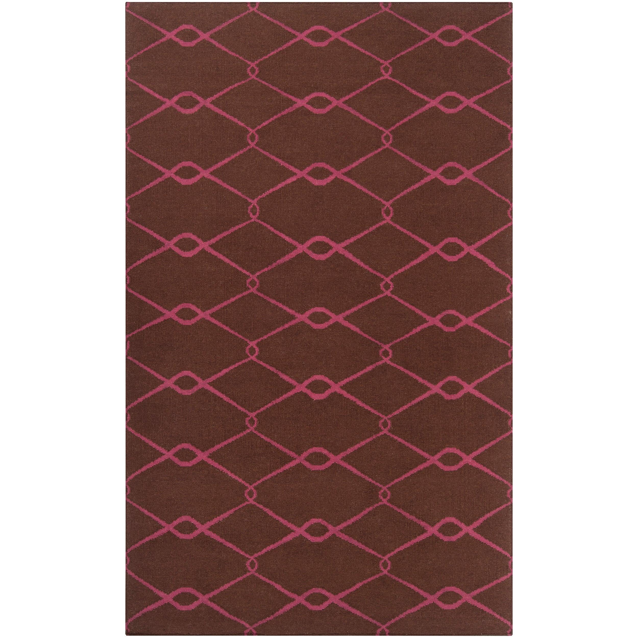 Hand-woven Pink Yehren Wool Rug (8' x 11')