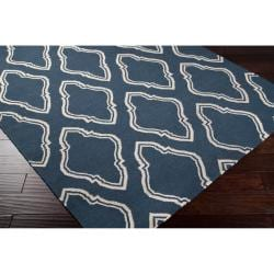 Hand Woven Blue Loch Wool Area Rug 8 X 11 Free