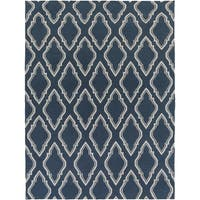 Hand-woven Blue Loch Wool Area Rug - 8' x 11'