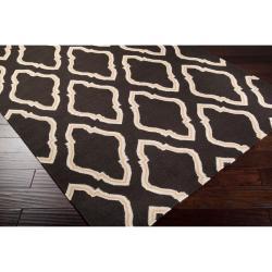 Hand-woven Brown Yeren Wool Rug (5' x 8') - Thumbnail 1
