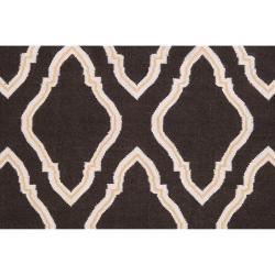 Hand-woven Brown Yeren Wool Rug (5' x 8') - Thumbnail 2
