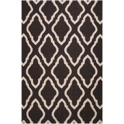 Hand-woven Brown Yeren Wool Area Rug (5' x 8') - Thumbnail 0