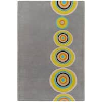 Palm Canyon Tecopa Hand-tufted Multicolored Circles Geometric New Zealand Wool Area Rug - 3'3 x 5'3