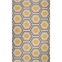 Hand-woven Grey Redeemer Wool Rug (8' x 11')