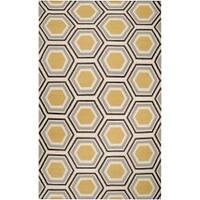 Hand-woven Grey Redeemer Wool Area Rug (5' x 8')