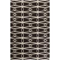Hand-woven Brown Zidee Wool Area Rug - 8' x 11'