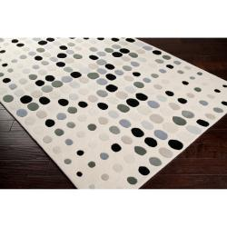 Tepper Jackson Hand-tufted Contemporary Multi Colored Circles Comet Geometric Wool Rug (5' x 8')