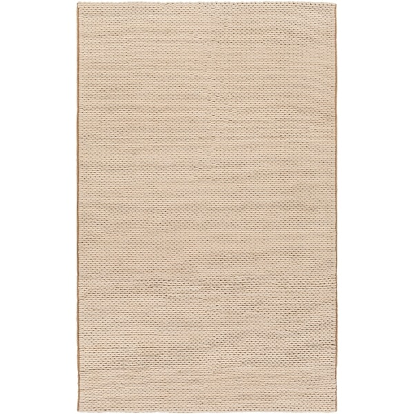 Hand-woven Edison New Zealand Wool Soft Braided Texture Area Rug - 8' x 10'