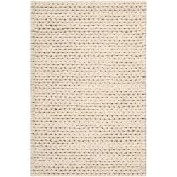 Hand-woven Edison New Zealand Wool Soft Braided Texture Rug (5' x 8')