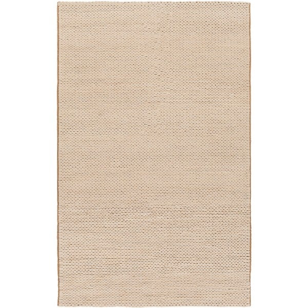 Hand-woven Edison New Zealand Wool Soft Braided Texture Area Rug - 5' x 8'