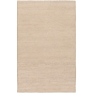 Hand-woven Edison New Zealand Wool Soft Braided Texture Rug (5' x 8')
