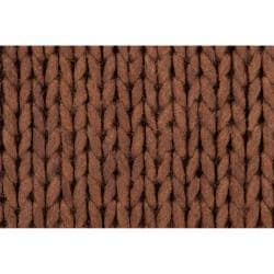 Hand-woven Brown Alva New Zealand Wool Soft Braided Texture Rug (8' x 10')
