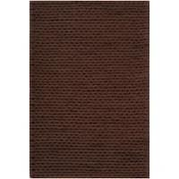 Hand-woven Brown Alva New Zealand Wool Soft Braided Texture Area Rug (8' x 10')