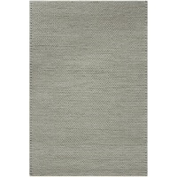 Hand-woven Gray Descartes New Zealand Wool Soft Braided Texture Area Rug - 8' x 10'