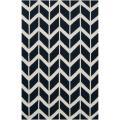 Hand-woven Navy Backoo Wool Area Rug (8' x 11')