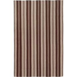 Hand-woven Brown Nicolaus Wool Rug (3'6 x 5'6)