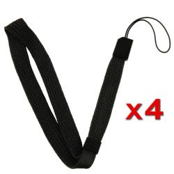 INSTEN Wii - Black Wrist Strap for Wii Remote Control (Pack of 4)