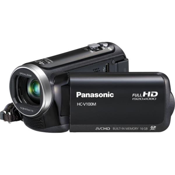 "Panasonic HC-V100M Digital Camcorder - 2.7"" LCD - MOS - Full HD - Bla"