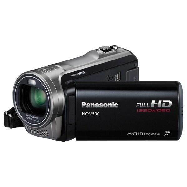 "Panasonic HC-V500 Digital Camcorder - 3"" - Touchscreen LCD - MOS - Fu"
