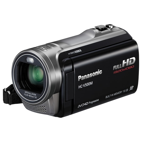 "Panasonic HC-V500M Digital Camcorder - 3"" - Touchscreen LCD - MOS - F"