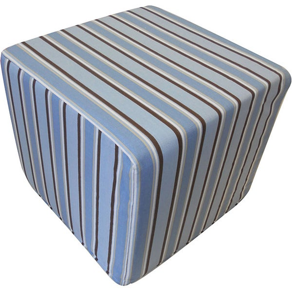 Jiti Blue Stripes Kid's Ottoman