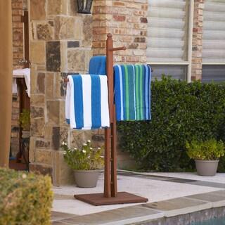 Raylen Eucalyptus Natural Oil Finish Towel Rack